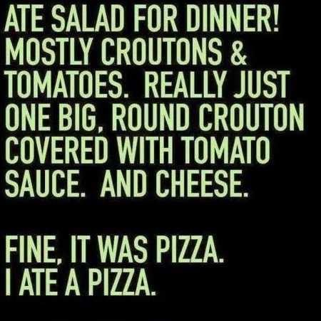 I Ate Salad For Dinner