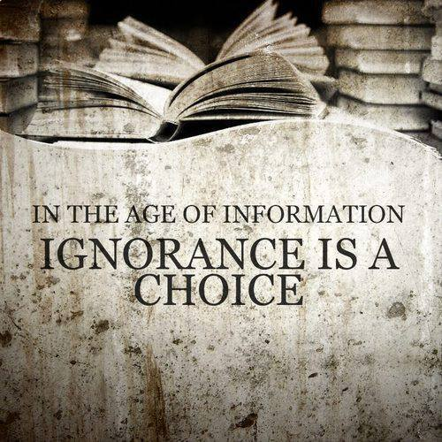 In the Information Age Ignorance Is A Choice