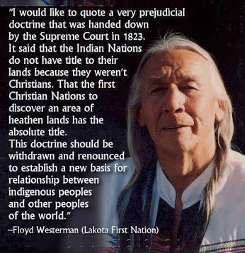 Indian Nations Not Christian so Have No Title