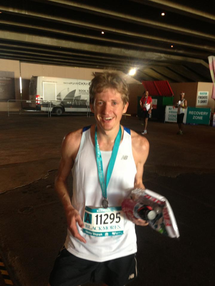 Jarrod Marathon Finish 2013.