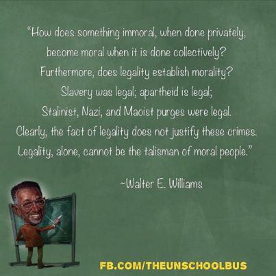 Legal Versus Moral