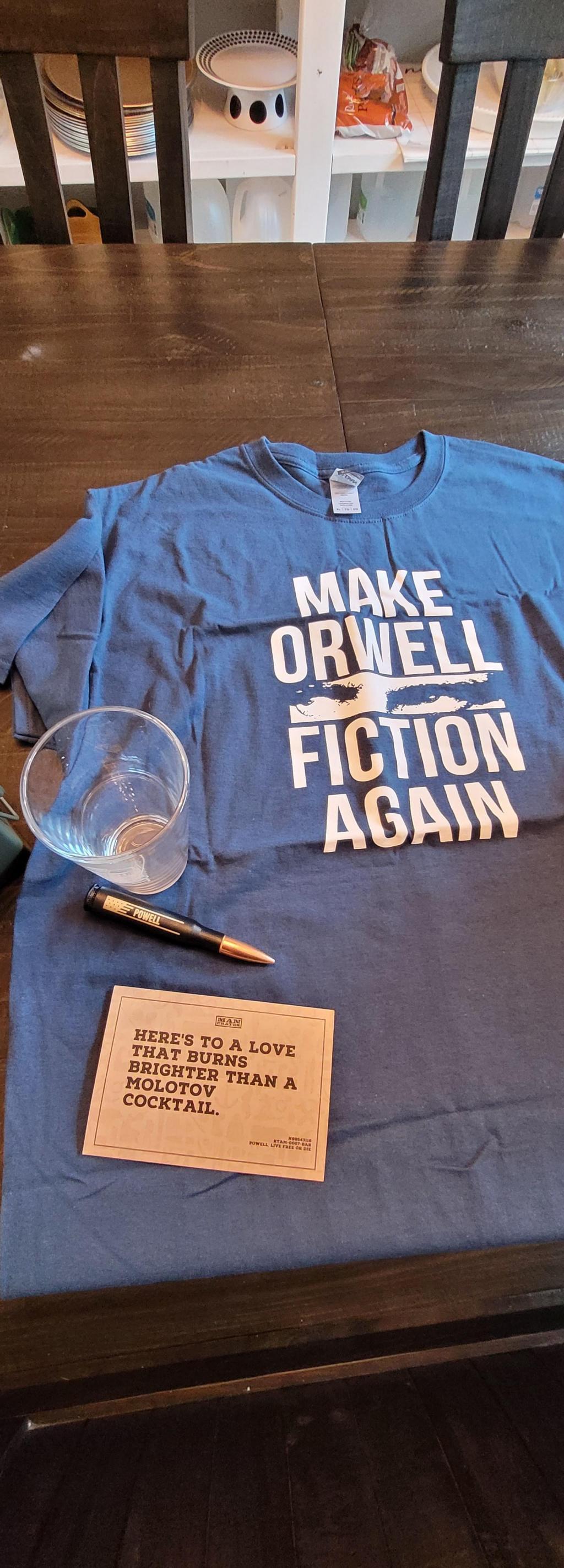 Make Orwell Fiction Again