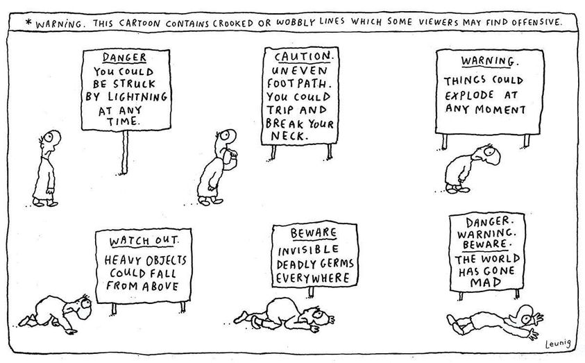 Michael Leunig Cartoon - The World Has Gone Mad