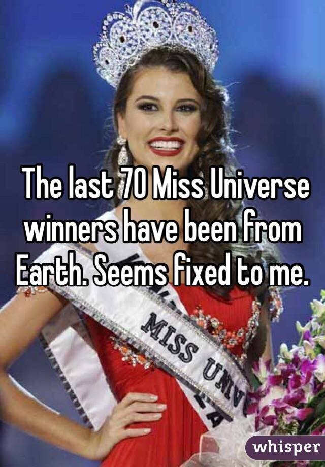 Miss Universe Is Fixed