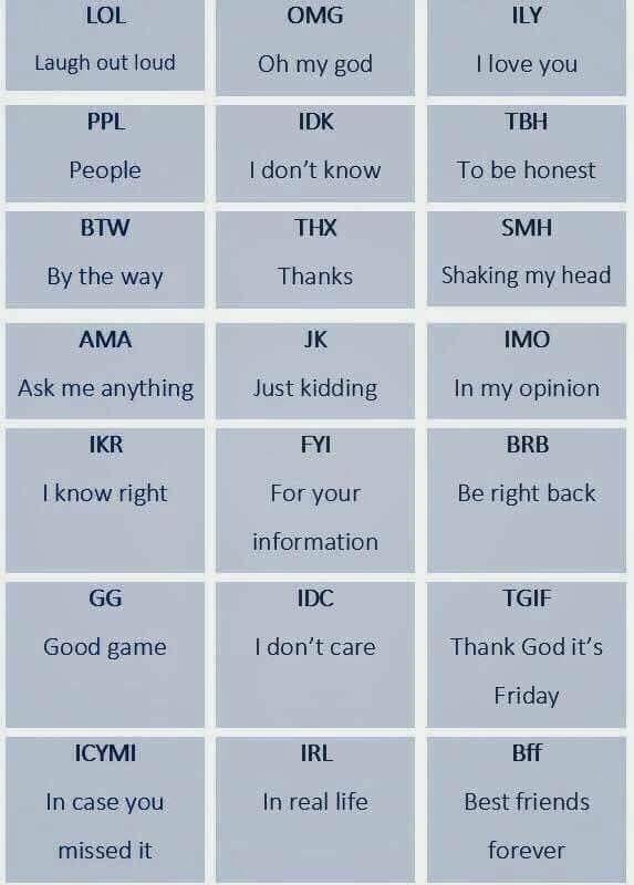 Modern Acronyms