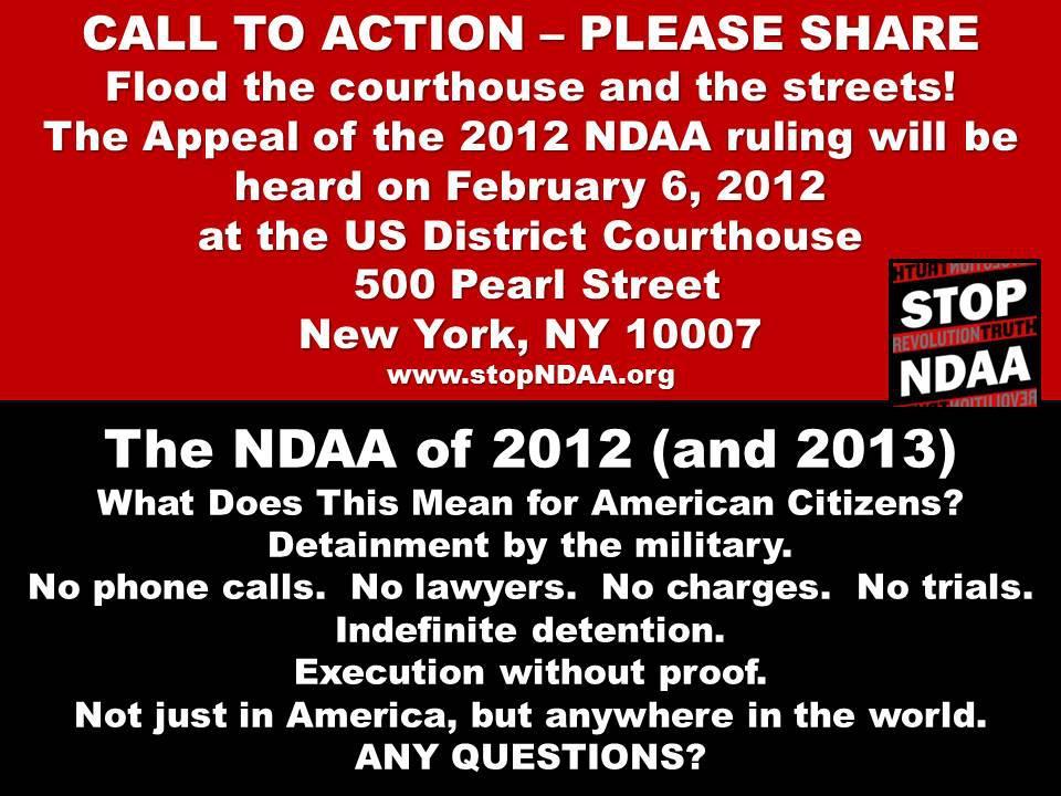 NDAA Call To Action