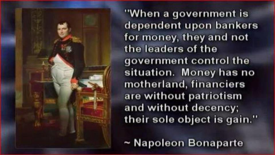 Napoleon On Bankers