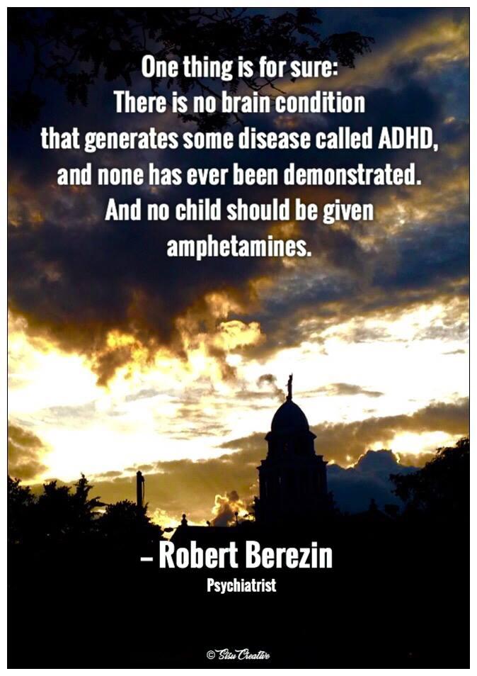No Child Should Get Amphetamines