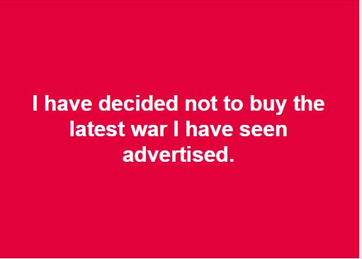 Not Buying War