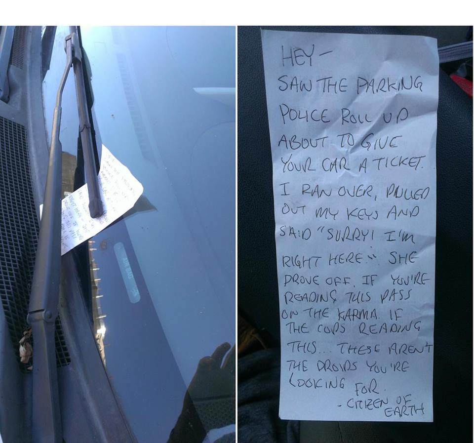 Note On Windscreen