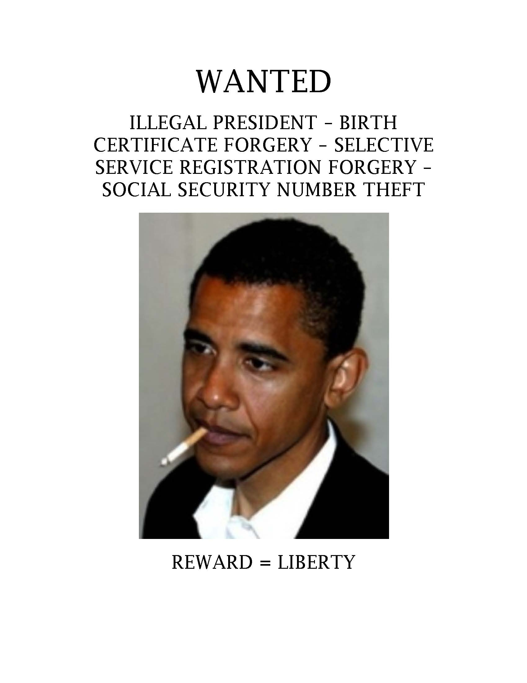 Obamma Wanted Poster