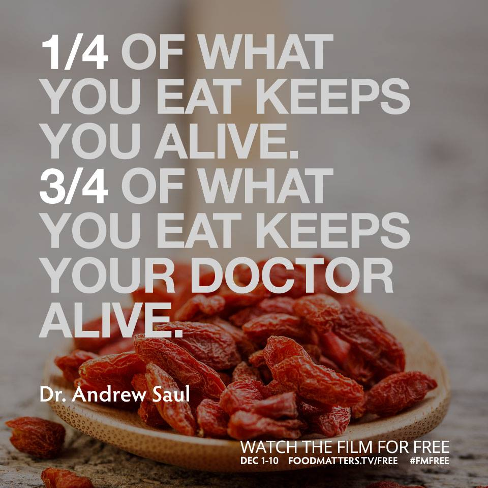 One Quarter Of What You Eat Keeps You Alive