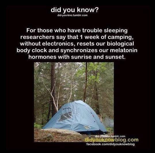 One Week Camping