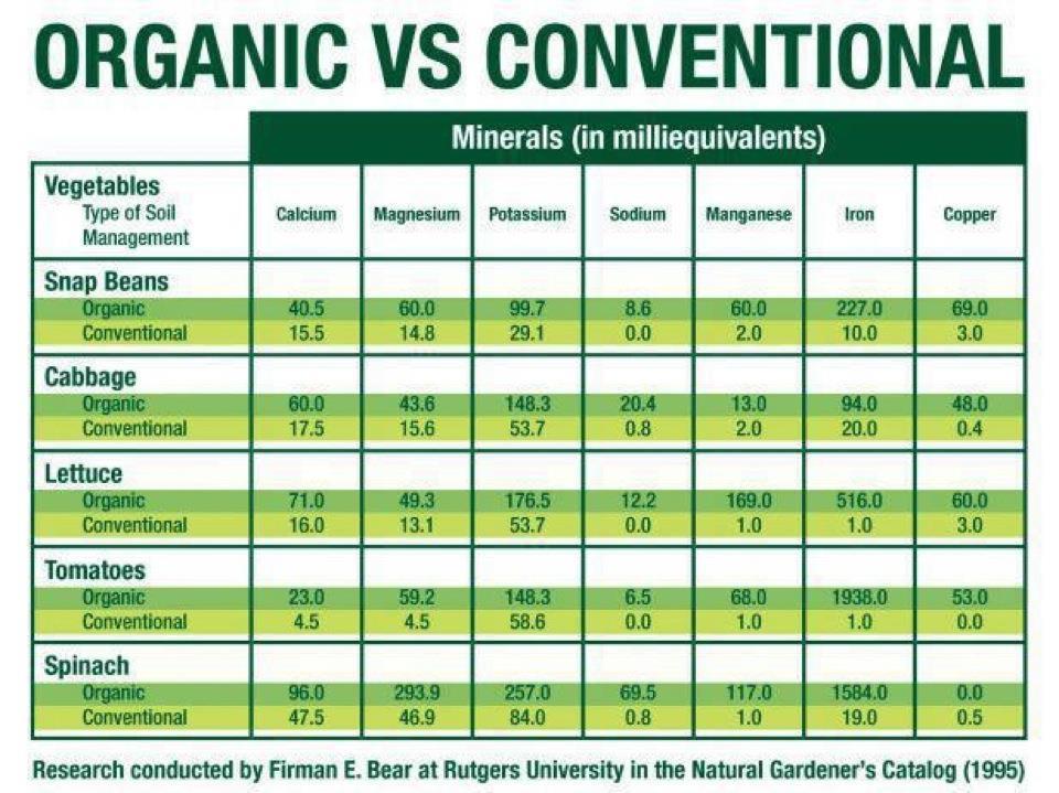 Organic Versus Conventional.