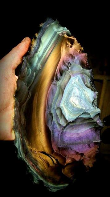 Rainbow Obsidian Blade