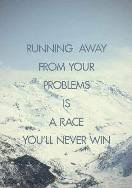 Running Away Is A No-Win
