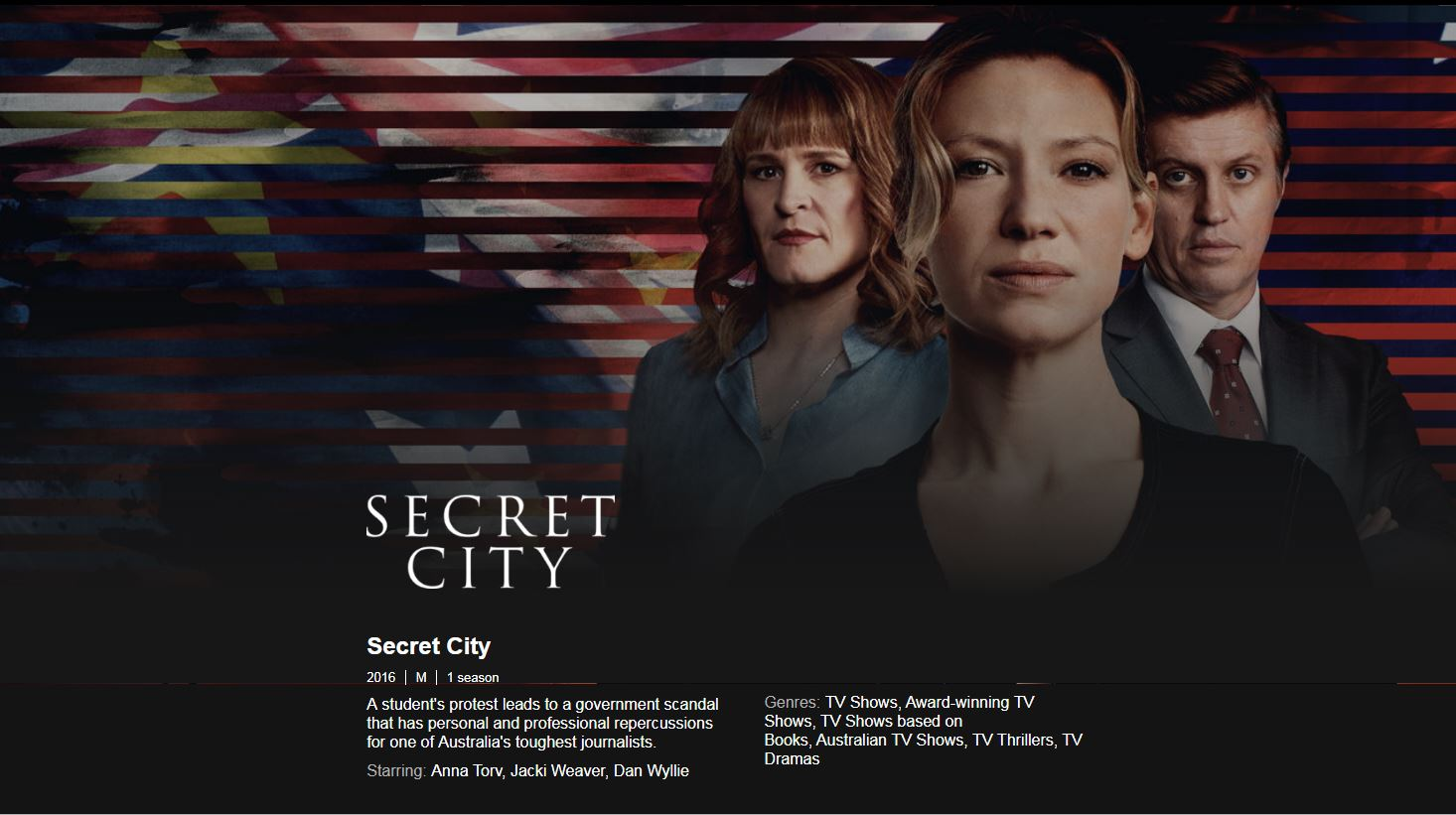 Secret City On Netflix