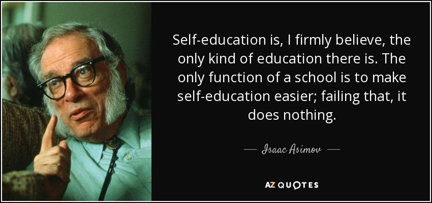 Self Education - Isaac Asimov