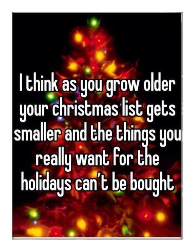 Short Christmas Wish List