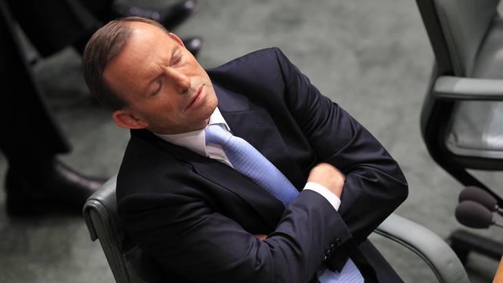 Sleeping Tony Abbott