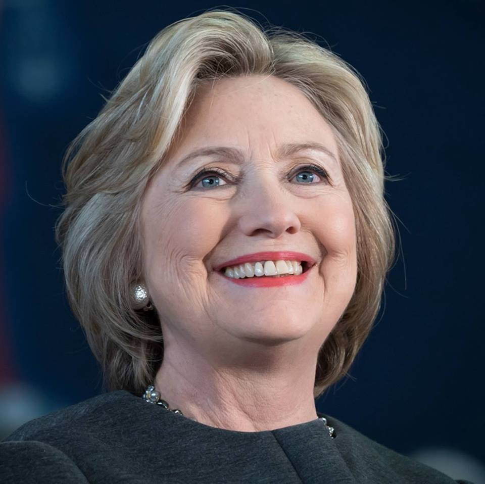 Smiling Hillary Clinton