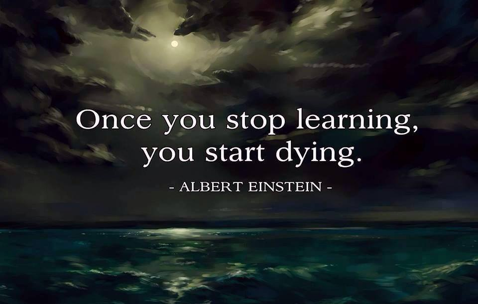 Once You Stop Learning You Start Dying