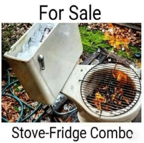 Stove Fridge Combo