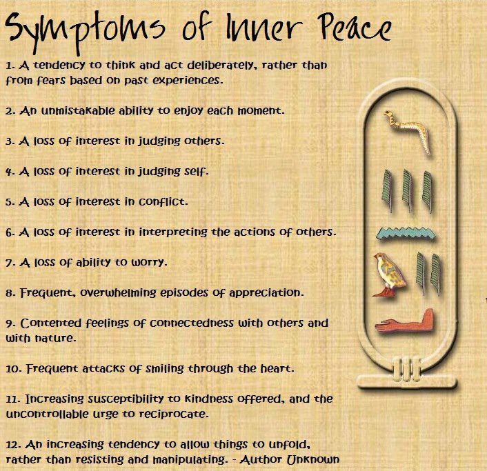 Symptoms Of Inner Peace
