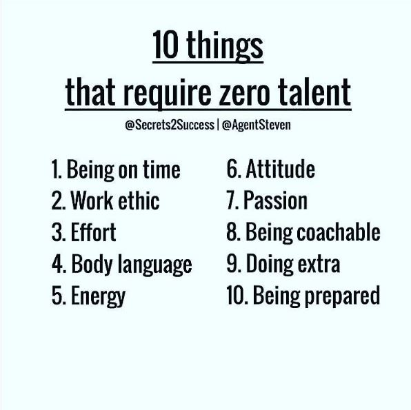 Ten Things That Require Zero Talent
