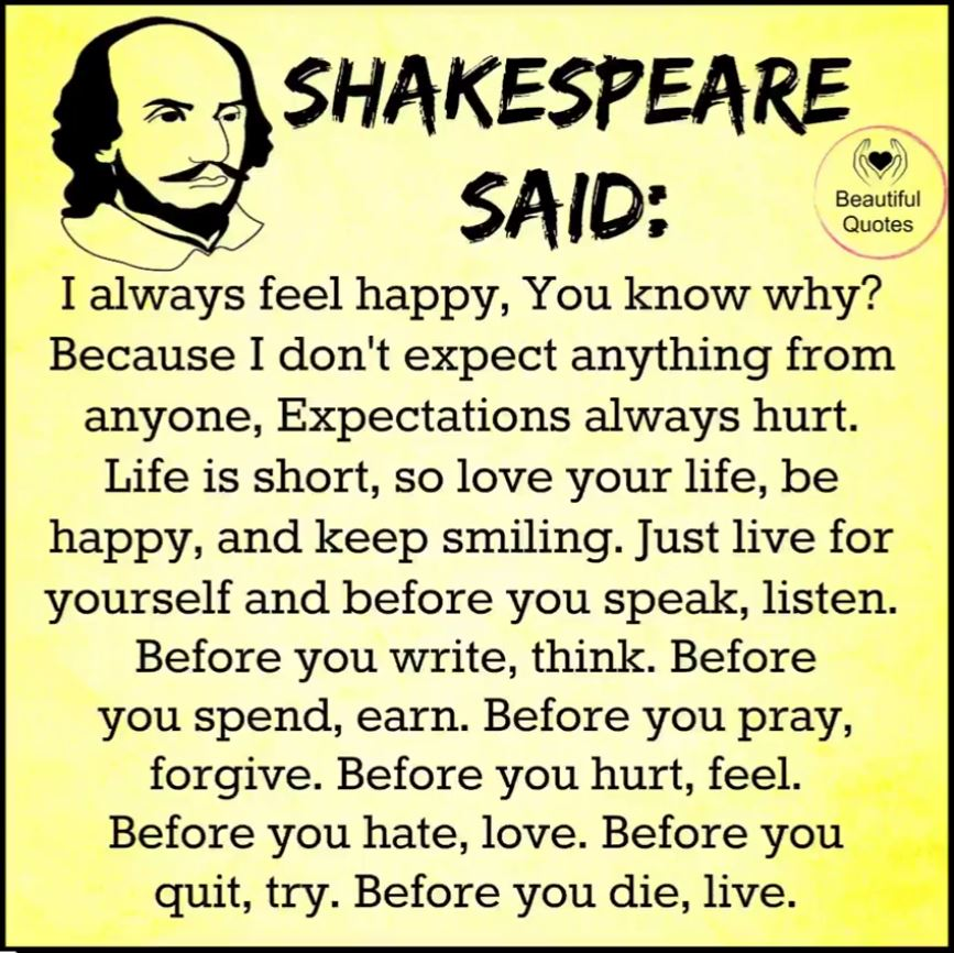 The Bard Said