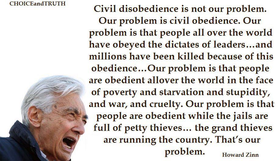 Our Problem Is Civil Obedience