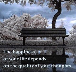 The Happiness of You Life Depends on the Quality of Your Thoughts