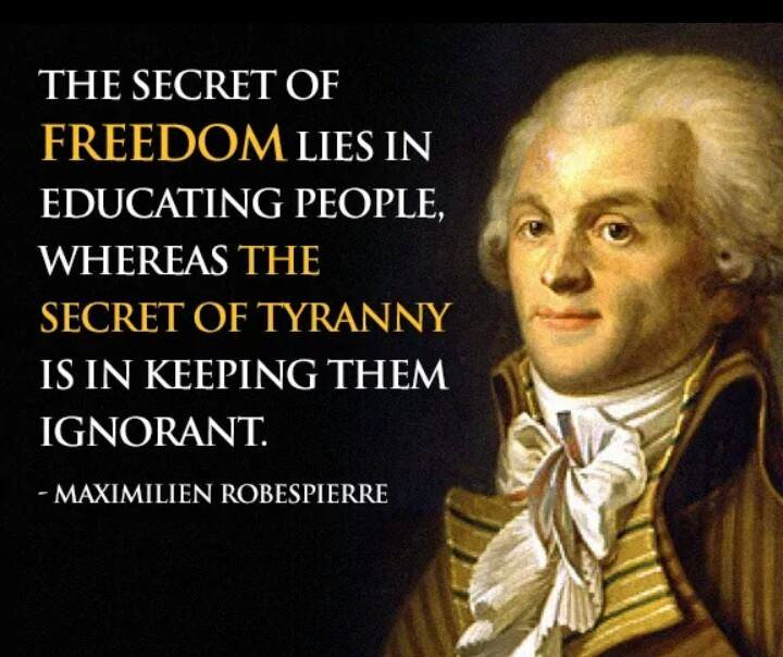 The Secret Of Freedom Is Education