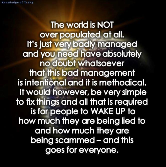 The World Is NOT Overpopulated