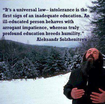 Tolerance Is A Mark Of