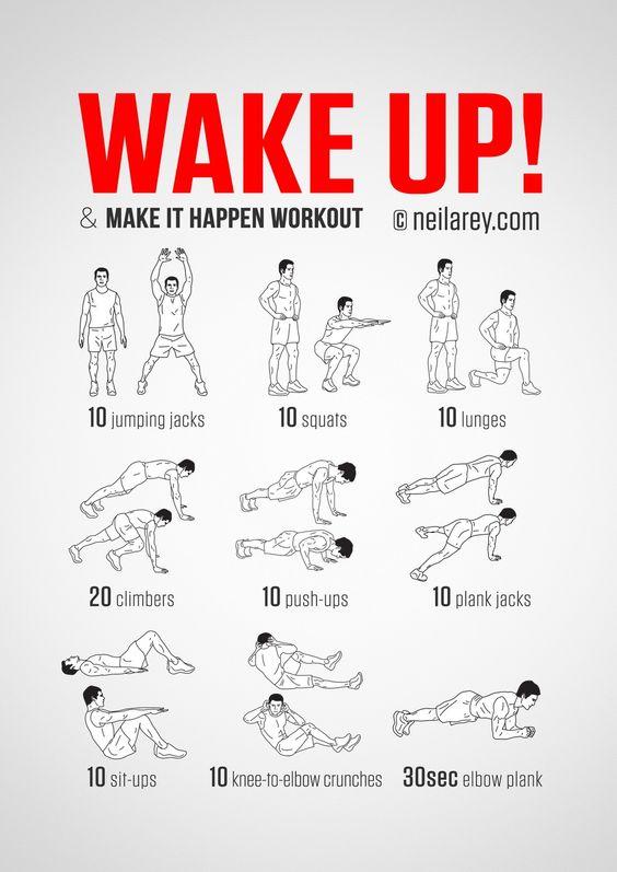 Wake Up Exercise Routine