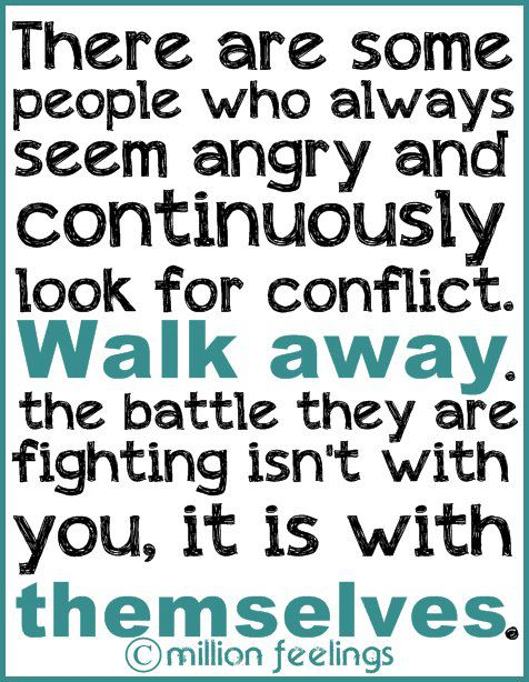 Walk Away From Conflict