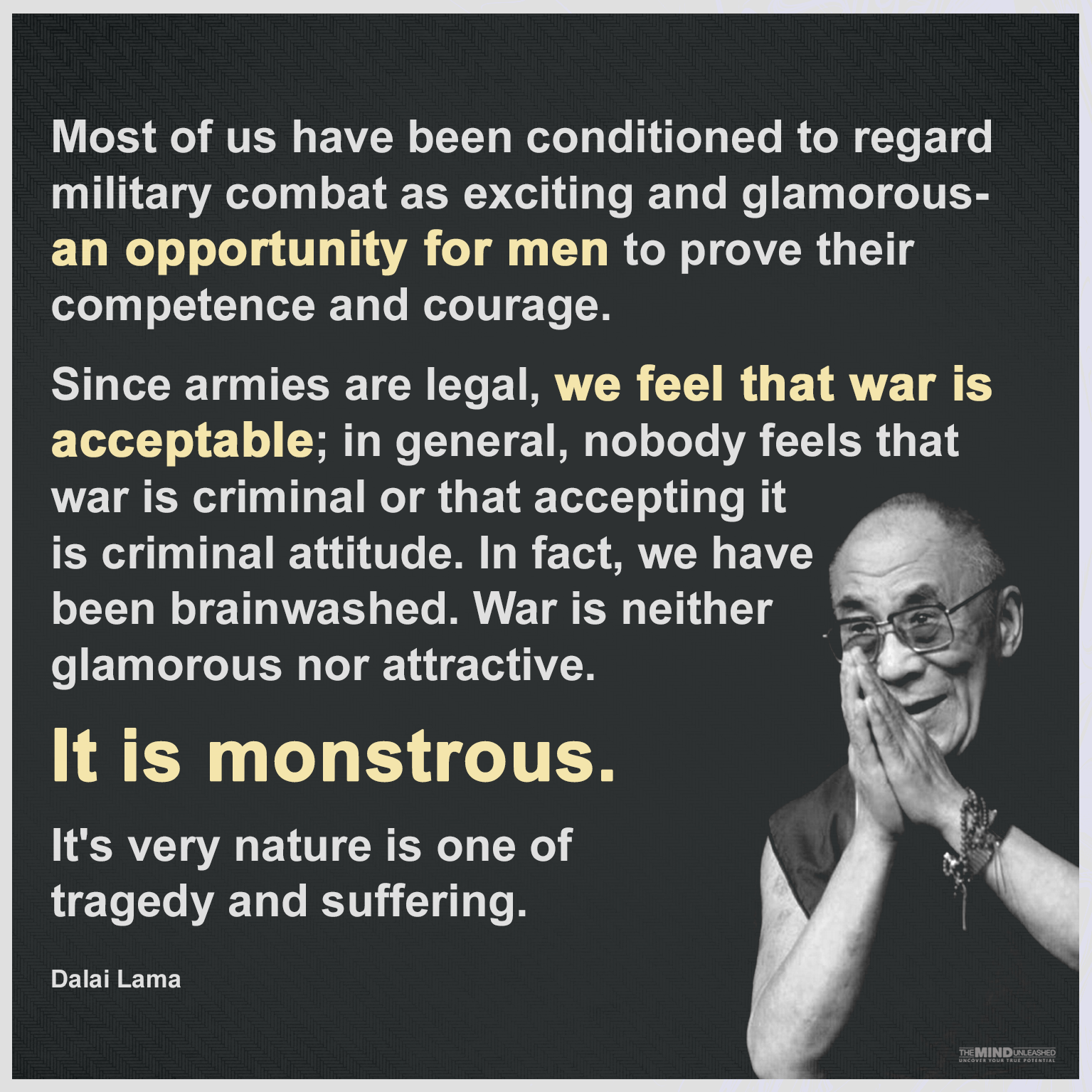 War Is NOT Glorious! Was Is Monstrous!