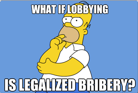 What If Lobbying Is Legalised Bribery