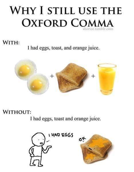 Why I Use The Oxford Comma