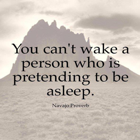 You Cannot Wake A Person Pretending To Be Asleep