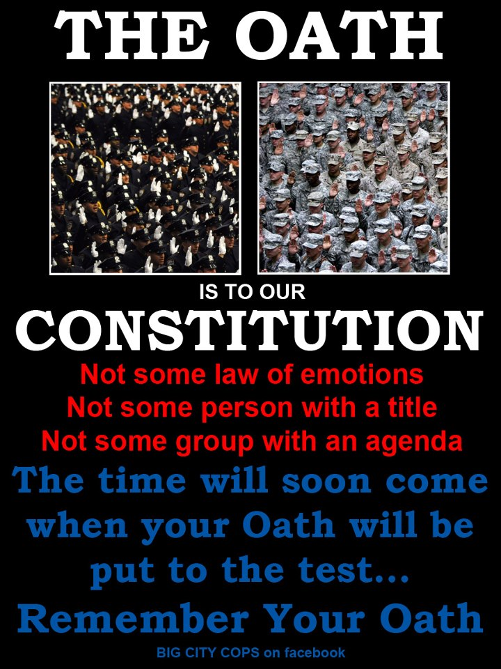 Your Oath Is To The Constitution