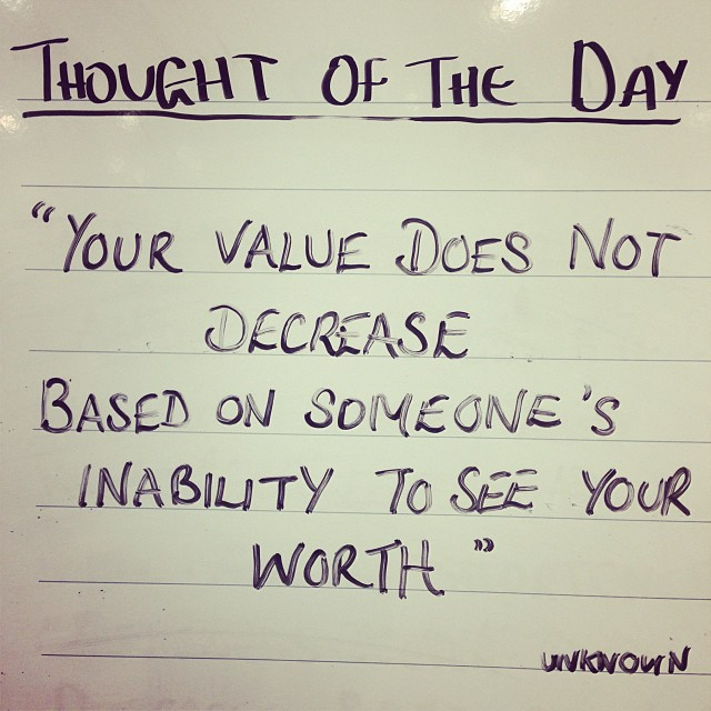 Your Value Does Not Diminish