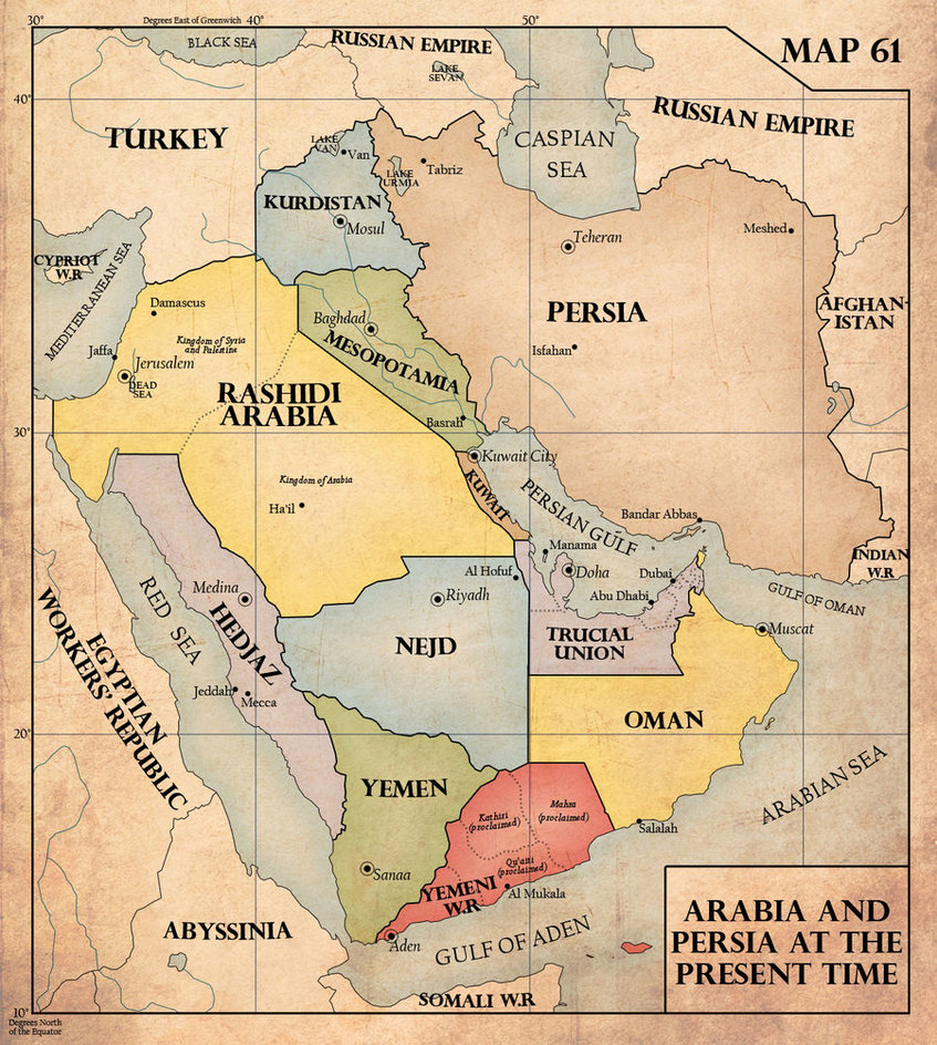 The Middle East in 1940