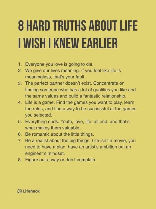 8 Hard Truths