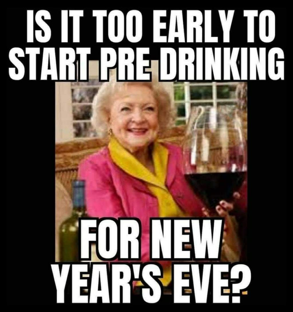 Betty White Pre-Drink