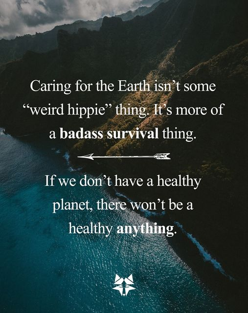 Caring For The Earth.