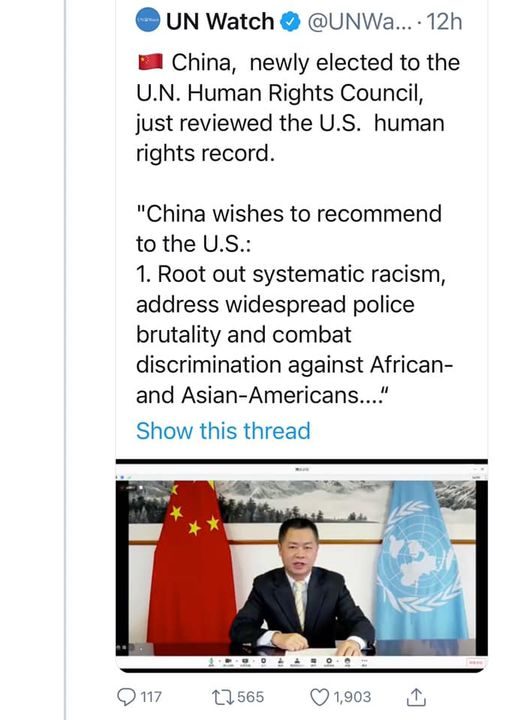 China Lectures USA On Human Rights