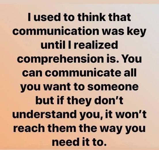 Communication Or Comprehension?