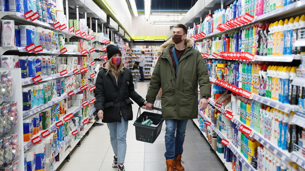 Couple Grocery Shopping